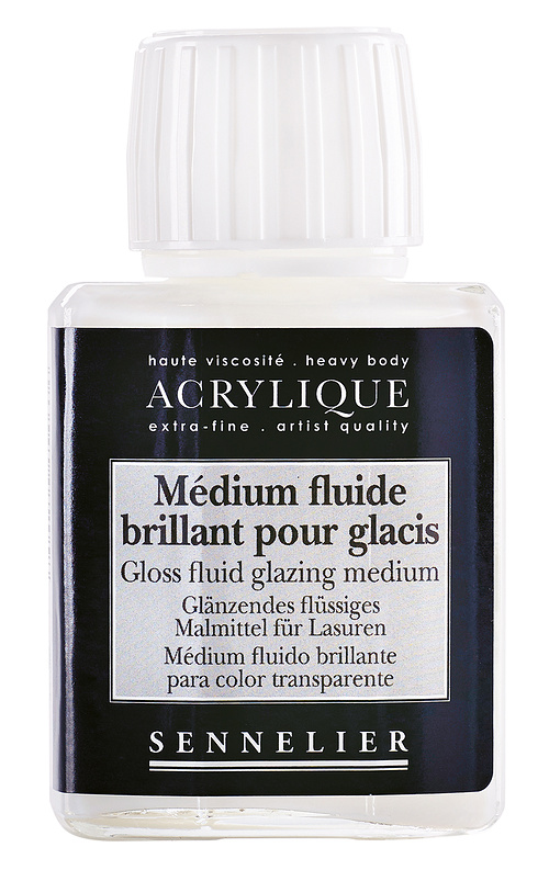 Gloss fluid glazing medium 0