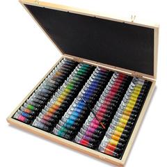 watercolour wooden box