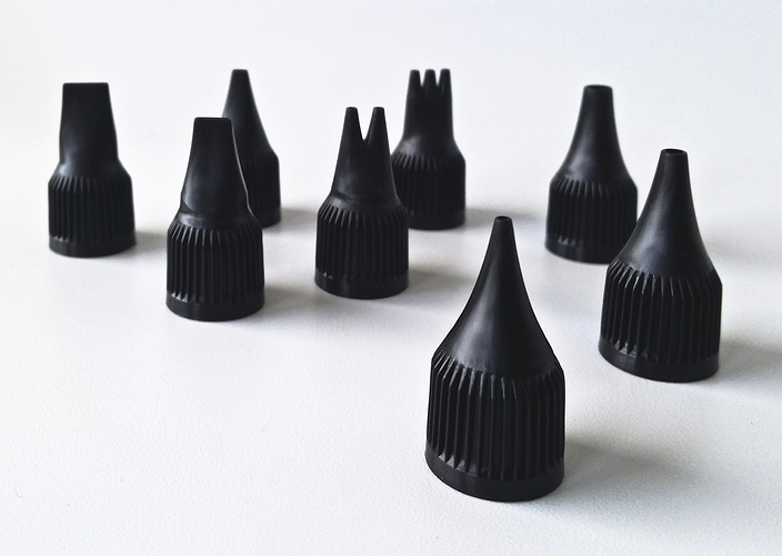 SET OF 8 NOZZLES Abstract emboutsabstract1