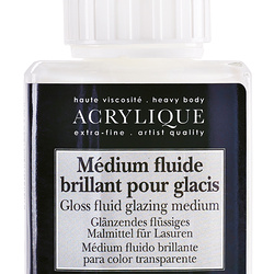 Gloss fluid glazing medium